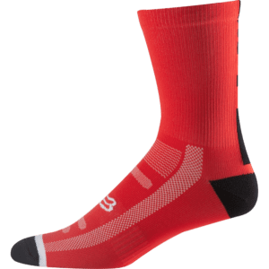 Fox 8 Logo Trail Sock : Flame Red