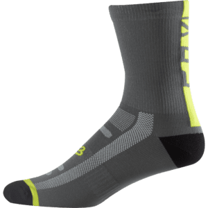 Fox 8 Logo Trail Sock : Graphite/Yellow