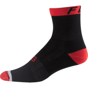 Fox 6 Logo Trail Sock : Flame Red