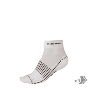 Endura Coolmax Race II Sock (3 Pack): White
