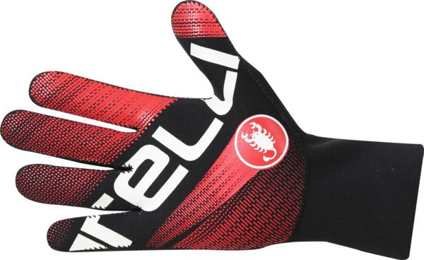Castelli Diluvio Light Glove : Black/Red