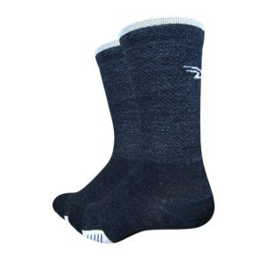 Defeet Cyclismo Wool 5 Inch : Charcoal/White