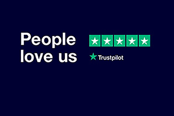 We're rated excellent on Trustpilot