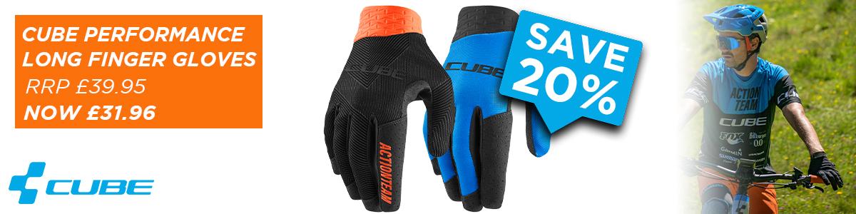 Cube Performance Long Finger Gloves