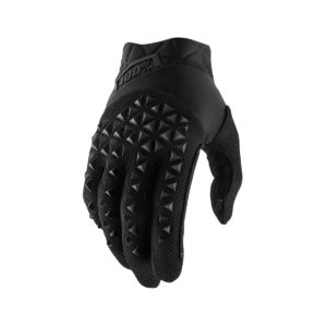 100% Airmatic Glove Black/Charcoal : Large