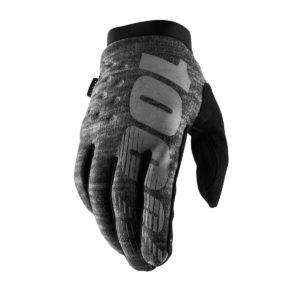 100% Brisker Cold Weather Glove Heather Grey : Large