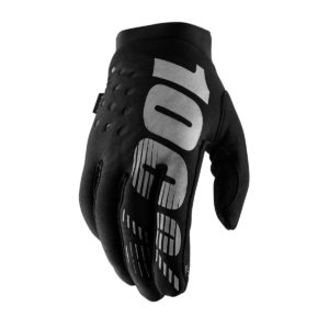 100% Brisker Glove Black/Grey : Medium