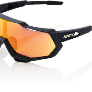 100% Speedtrap Glasses : Soft Tact Black