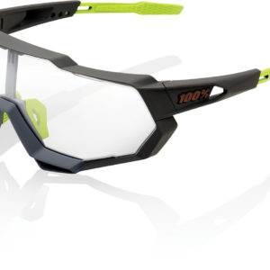 100% Speedtrap Glasses : Soft Tact Cool Grey