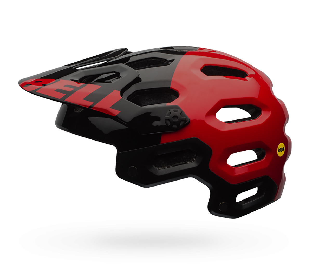 Bell Super 2.0 Mips Helmet: Red/Black