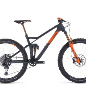 2020 Cube Stereo 140 HPC Tm 27.5 : Grey/Orange : 16""