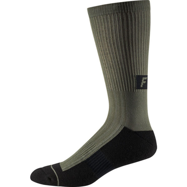 "Fox 8"" Trail Cushion Sock : Black : Large/X-Large"