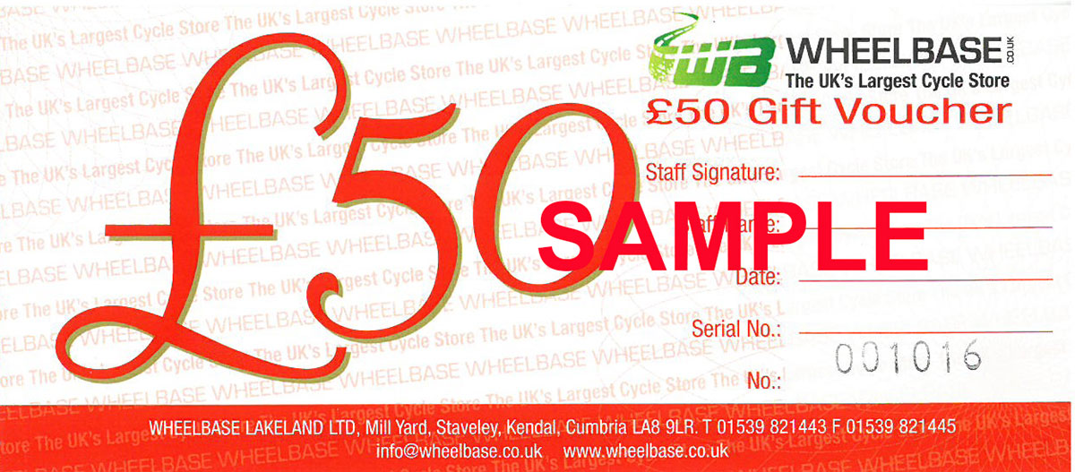 Wheelbase £50 Gift Voucher