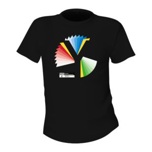 Yorkshire 2019 Rainbow Y Unisex Black T-Shirt