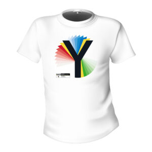 Yorkshire 2019 Rainbow Y White T-Shirt